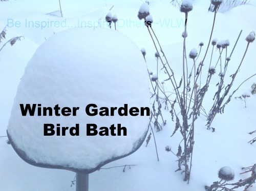 Winter Garden Bird Bath